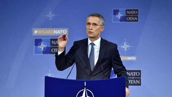 NATO Secretary General Jens Stoltenberg holds a news conference during a North Atlantic Council (NAC) defence ministers meeting in Brussels, Belgium November 9, 2017 - Sputnik International