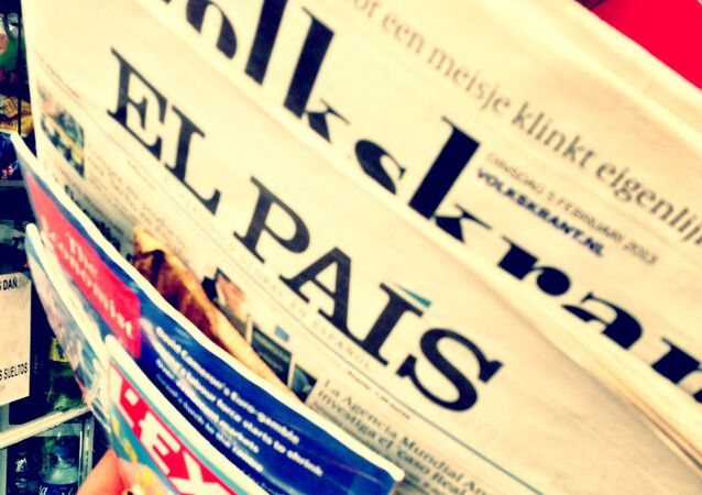Spanish press, the cover of the newspaper El País (file)