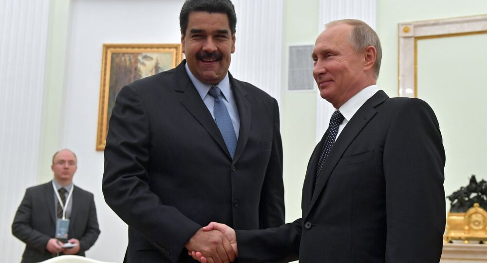 October 4, 2017. Russian President Vladimir Putin and President of the Bolivarian Republic of Venezuela Nicolas Maduro, left, during a meeting.
