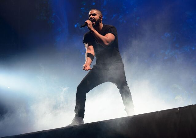 Canadian singer Drake performs on the main stage at Wireless festival in Finsbury Park, London, Sunday, June 28, 2015