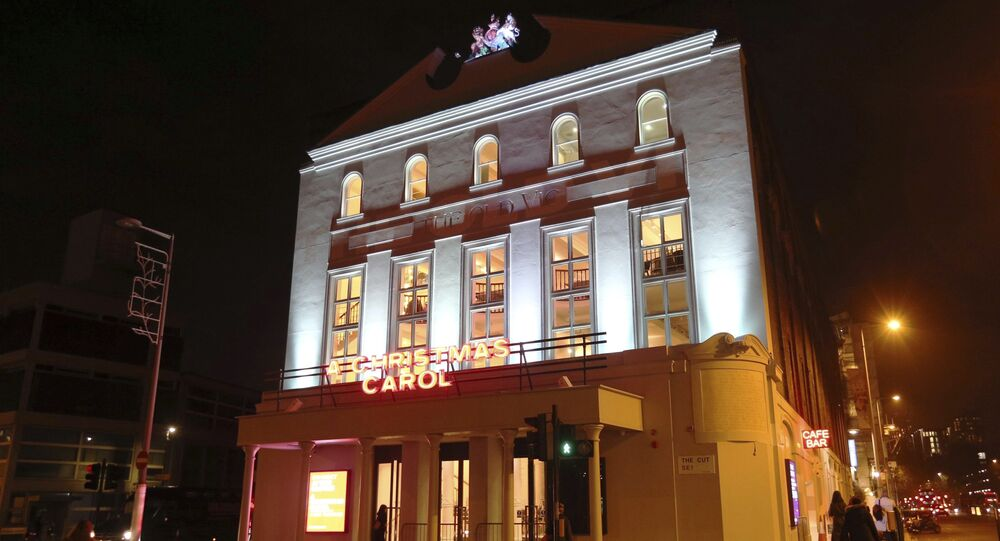 A general view of The Old Vic theatre in London, Wednesday Nov. 15, 2017, where actor Kevin Spacey used to work as Artistic Director