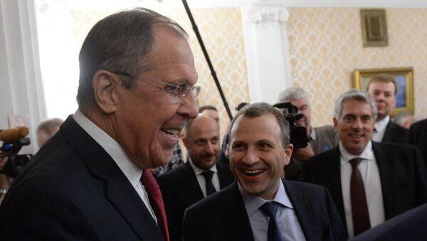 Foreign Minister Sergei Lavrov meets with Lebanese counterpart, Gebran Bassil - Sputnik International