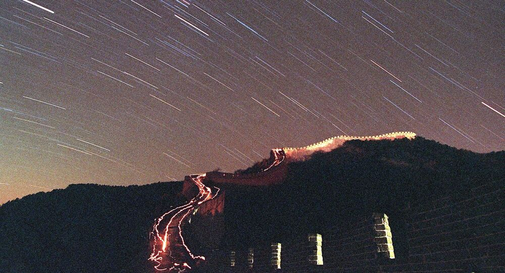 The Leonid meteor shower lights up the sky above China's Great Wall in Badaling. (File)