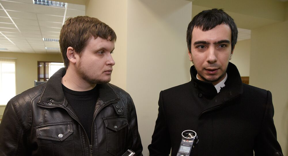 Pranksters Lexus (Alexei Kuznetsov) and Vovan (Vladimir Kuznetsov). File photo