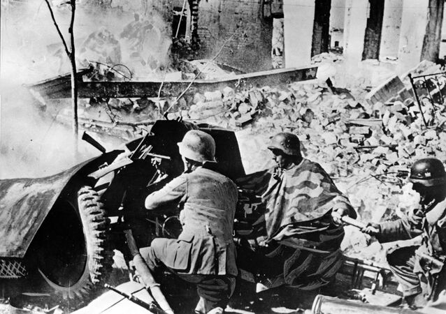 Wehrmacht troops in the ruins of Stalingrad, September 1942