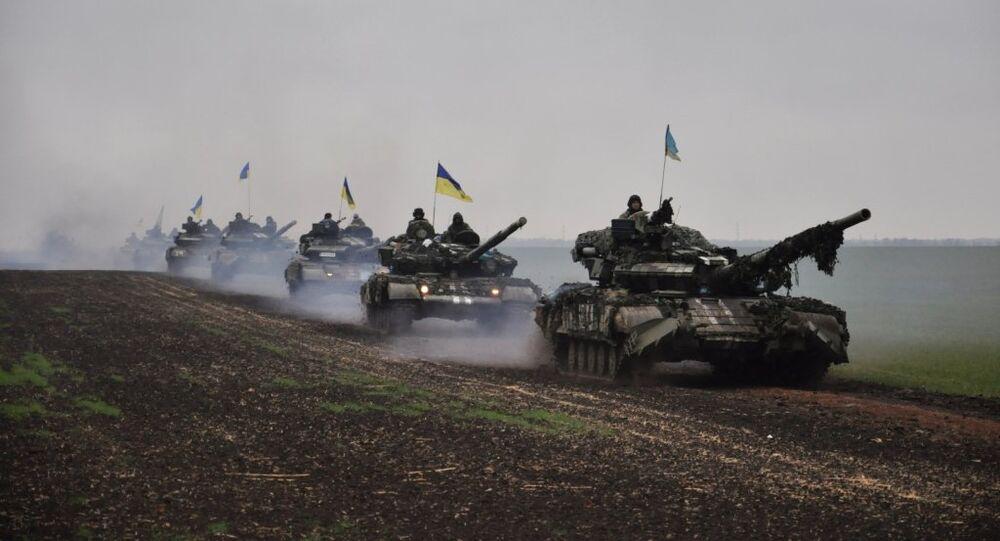 Ukrainian tanks on the march