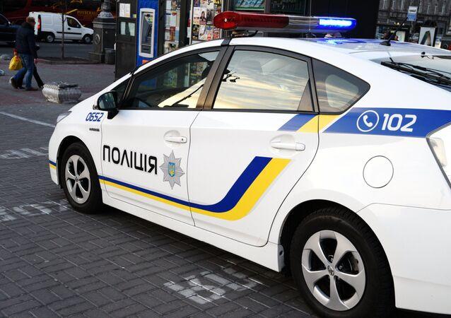 A car of the Ukrainian police in Kiev. (File)
