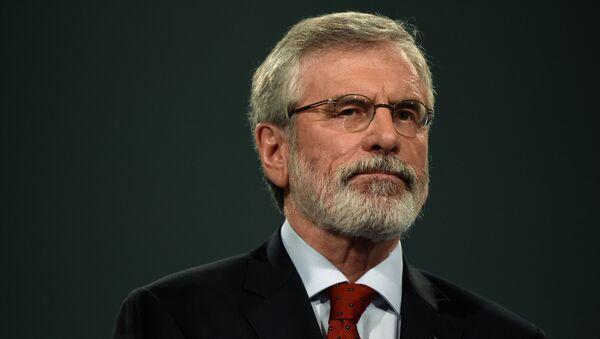 Sinn Fein President Gerry Adams delivers a speech at his party's annual conference in Dublin, Ireland November 18, 2017. - Sputnik International