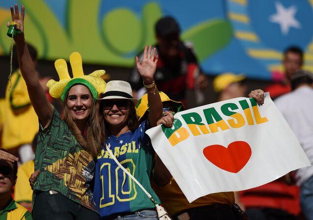 Brazilian football fans (File)