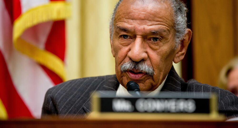 Rep. John Conyers, D-Mich., ranking member on the House Judiciary Committee, speaks on Capitol Hill in Washington, Tuesday, May 24, 2016