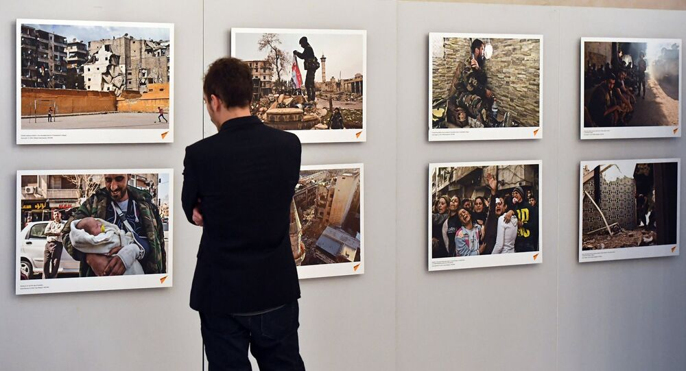Opening of exhibiton, Syria: Photo Chronicles of War, in Strasbourg