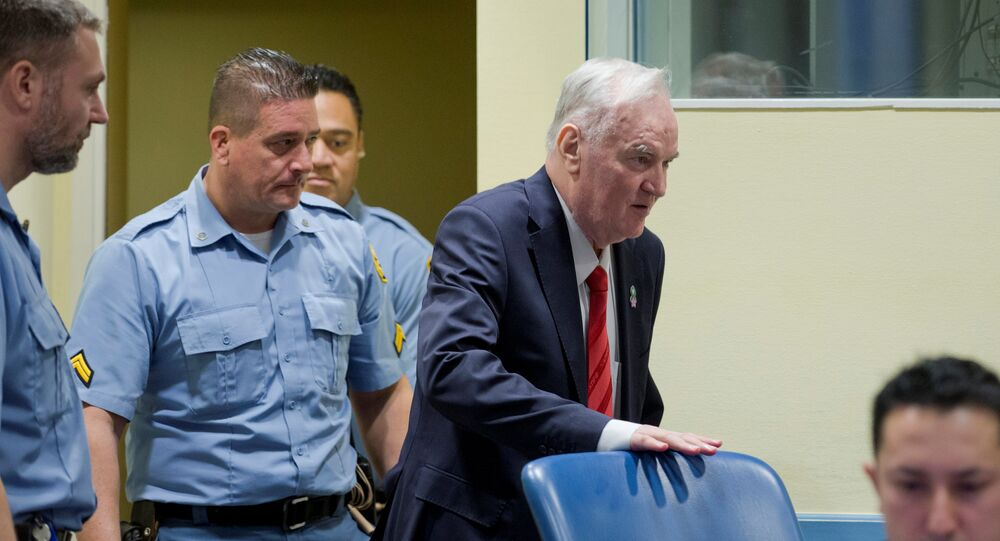 Ex-Bosnian Serb wartime general Ratko Mladic appears in court at the International Criminal Tribunal for the former Yugoslavia (ICTY) in the Hague, Netherlands November 22, 2017