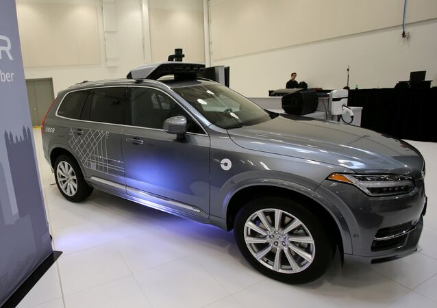 Uber's Volvo XC90 self driving car is shown during a demonstration of self-driving automotive technology in Pittsburgh, Pennsylvania, U.S. September 13, 2016