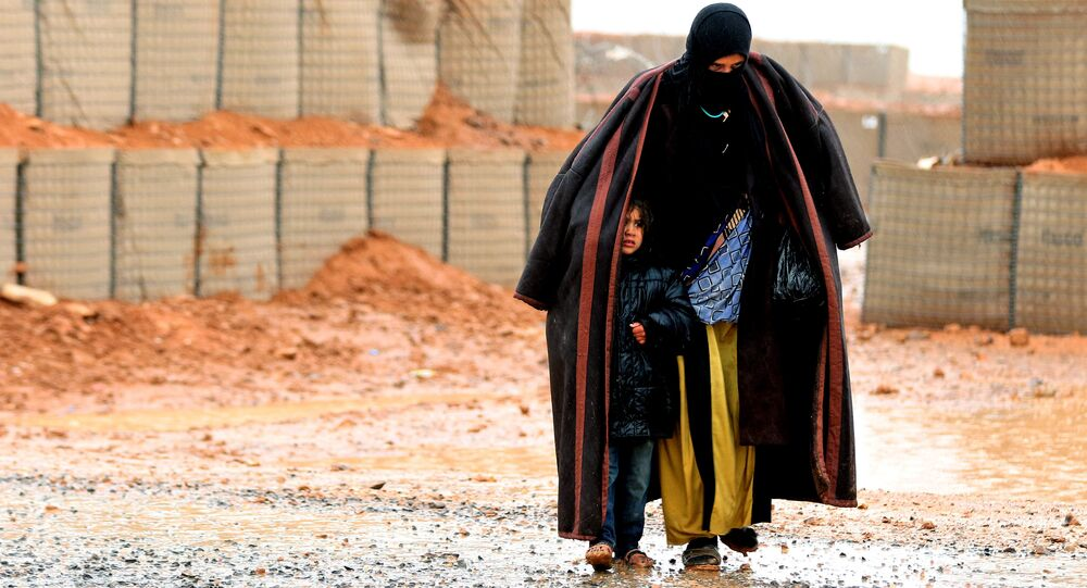 A Syrian refugee from the informal Rukban camp. (File)