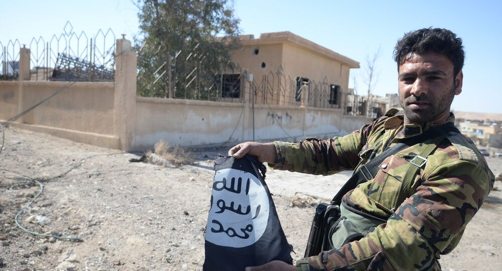 A Syrian army soldier in the town of Al-Qaryatayn liberated from ISIS militants. (File)