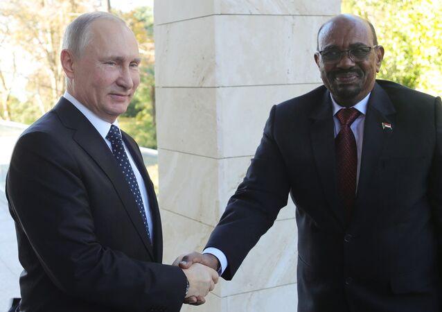 November 23, 2017. Russian President Vladimir Putin and President Omar al-Bashir of Sudan during their meeting