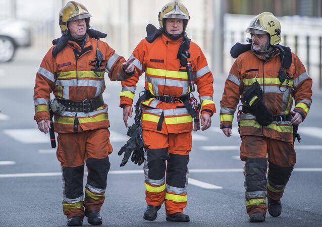 Firefighters in Brussels (File)