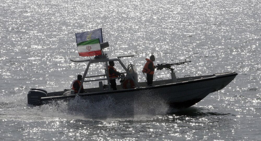 an Iranian Revolutionary Guard speedboat