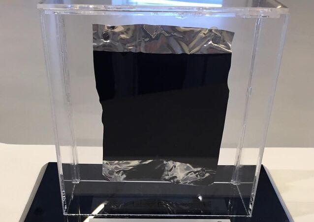 A piece of Vantablack, the darkest material on Earth