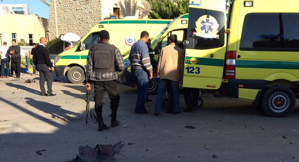 Ambulances in the Egyptian town of El-Arish. (File)