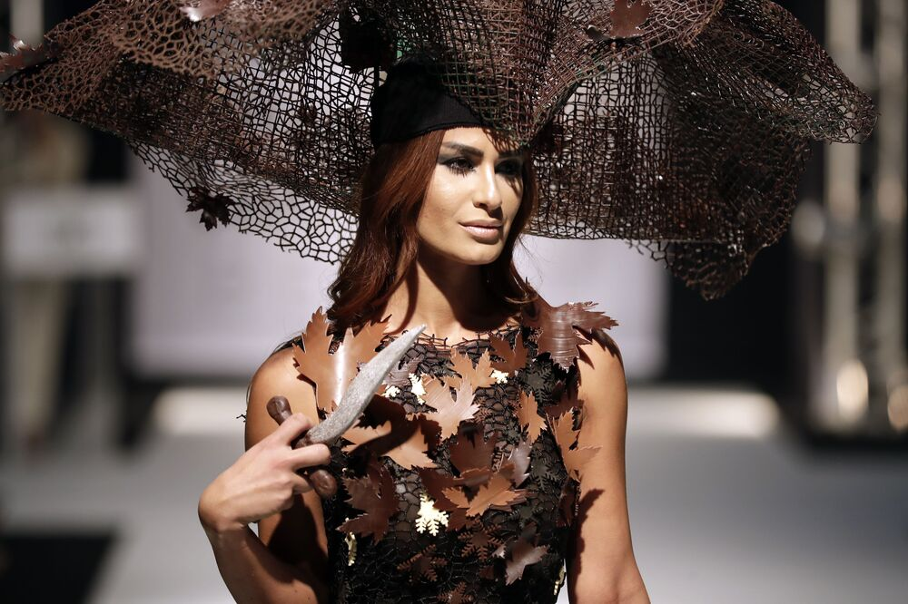 Haute Couture: Models Wear Dazzling Dresses Made of Chocolate
