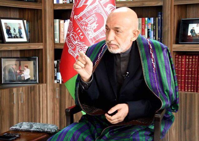 Former Afghan president Hamid Karzai