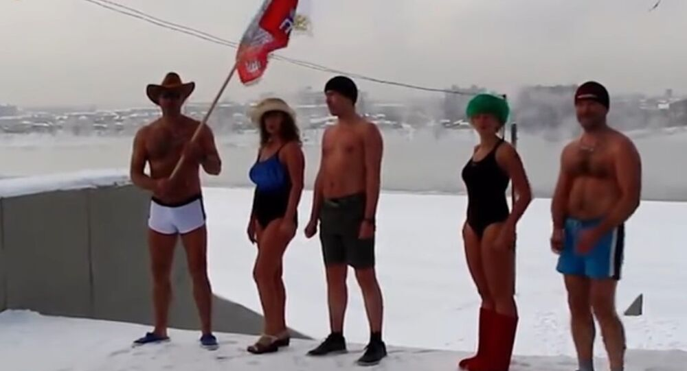 These Crazy Russians Strip Down for a Freezing Winter Jog