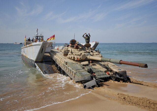Indian Army, Navy and Air Force amphibious exercise (File)