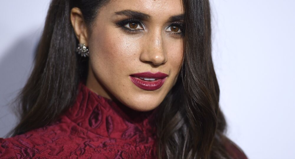 Meghan Markle arrives at ELLE's 6th annual Women in Television celebration at the Sunset Tower Hotel on Wednesday, Jan. 20, 2016, in Los Angeles.