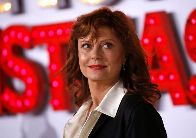 Cast member Susan Sarandon poses at the premiere for A Bad Moms Christmas in Los Angeles, California, U.S., October 30, 2017