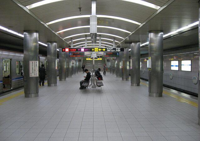 Platform of Nishi-Umeda Station
