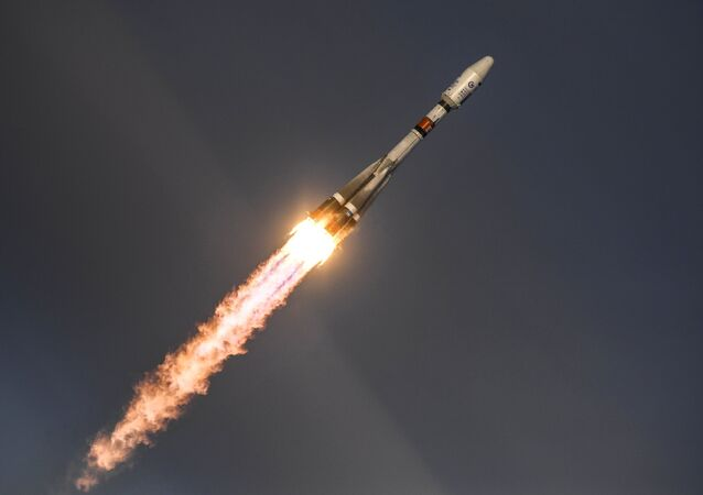 The launch of the Soyuz-2.1b carrier rocket at the Vostochny Space Center