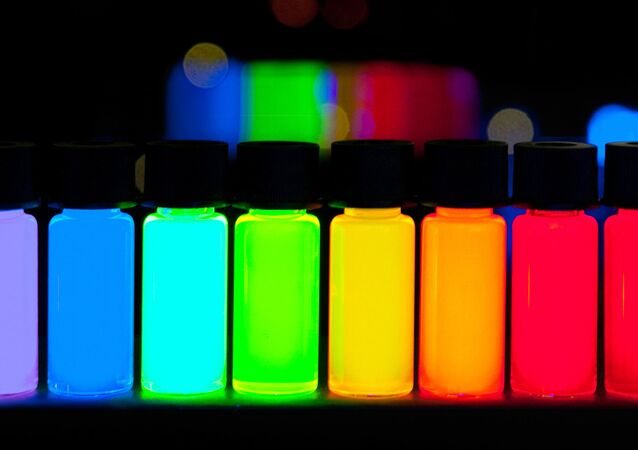 Quantum dots with vivid colours stretching from violet to deep red