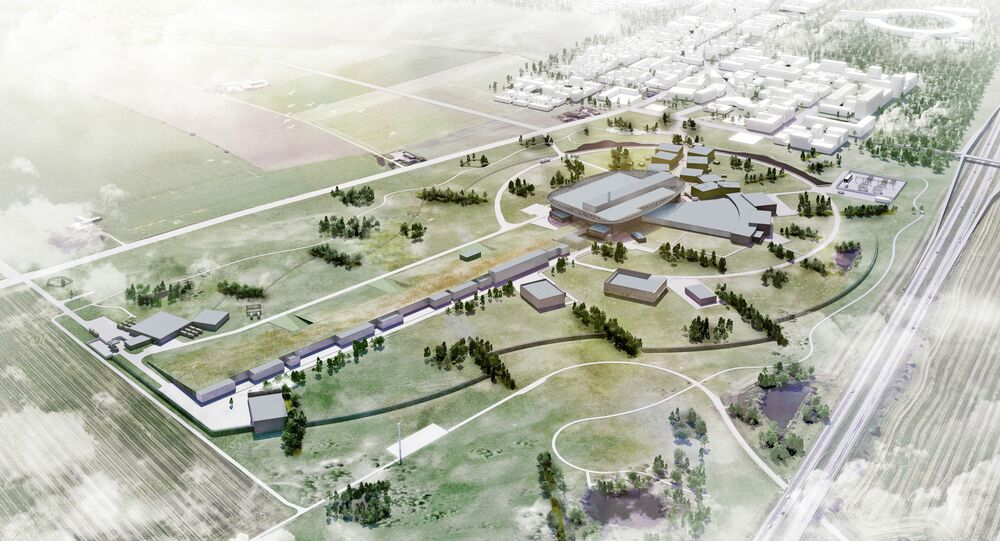 Digital rendering of the ESS facility
