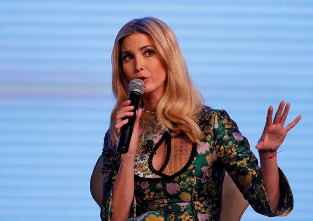 Ivanka Trump, daughter of U.S. President Donald Trump, speaks during the Global Entrepreneurship Summit (GES) in Hyderabad, India