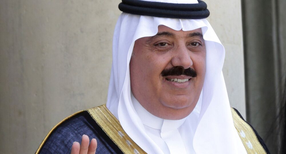 Saudi Arabian Prince Miteb bin Abdullah at the Elysee Palace in Paris, France, June 18, 2014