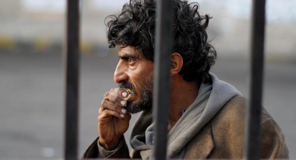 A homeless Yemeni man is seen on a street in Sanaa, Yemen November 24, 2017.