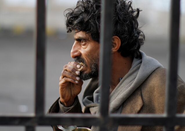A homeless Yemeni man is seen on a street in Sanaa, Yemen November 24, 2017.