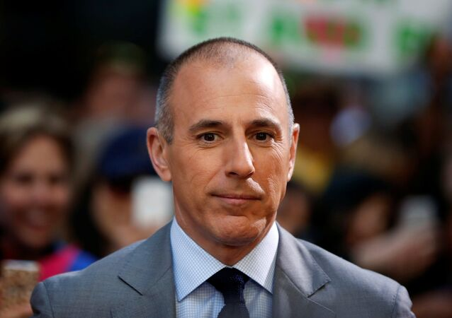 Host Matt Lauer pauses during a break while filming NBC's Today show at Rockefeller Center in New York, U.S., May 3, 2013.