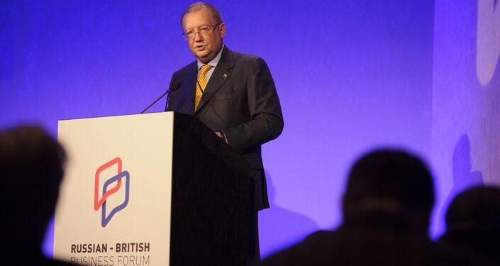 Russia's ambassador to the UK Alexander Yakovenko at the Russian-British Business Forum in London