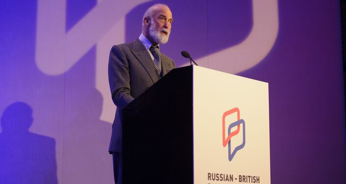 Prince Michael of Kent speaks at the Russian-British Business Forum in London
