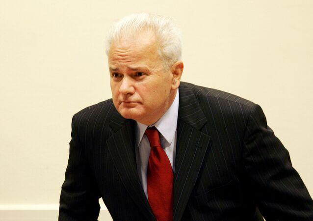Former Yugoslav President Slobodan Milosevic (File)