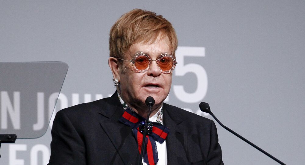 Elton John attends the Elton John AIDS Foundation's 25th Anniversary Gala at The Cathedral of St. John the Divine on Tuesday, Nov. 7, 2017, in New York.