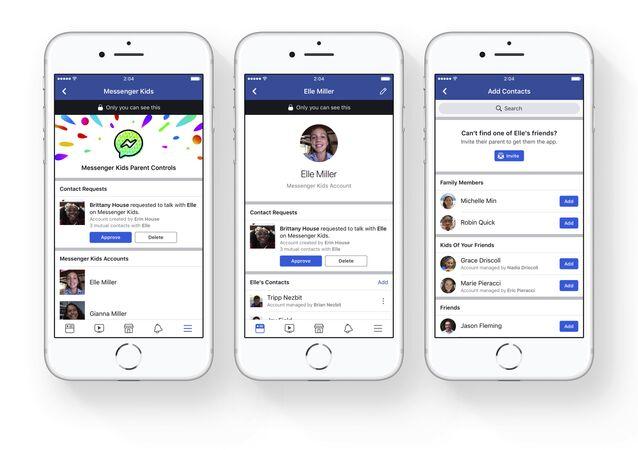 Parental controls on Facebook's new Messenger app for kids