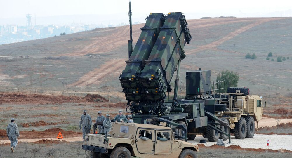 Patriot missile launcher system (File)