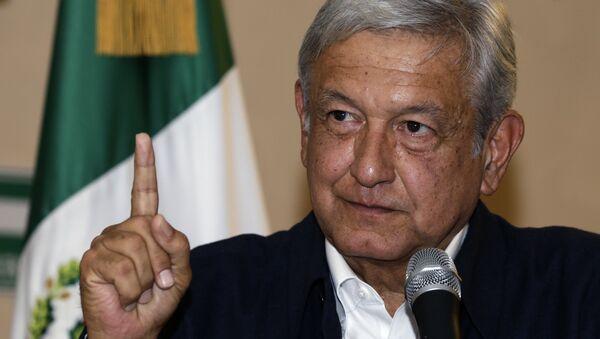 Andres Manuel Lopez Obrador gives a press conference in Mexico City - Sputnik International
