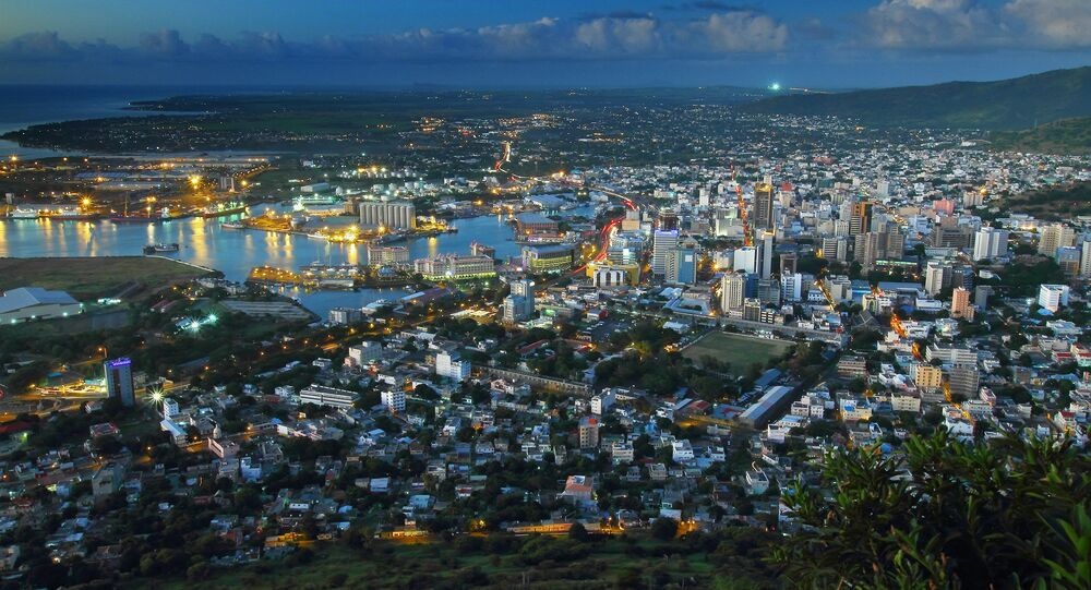 Port Louis, the capital city of Mauritius, is winding down in the evening