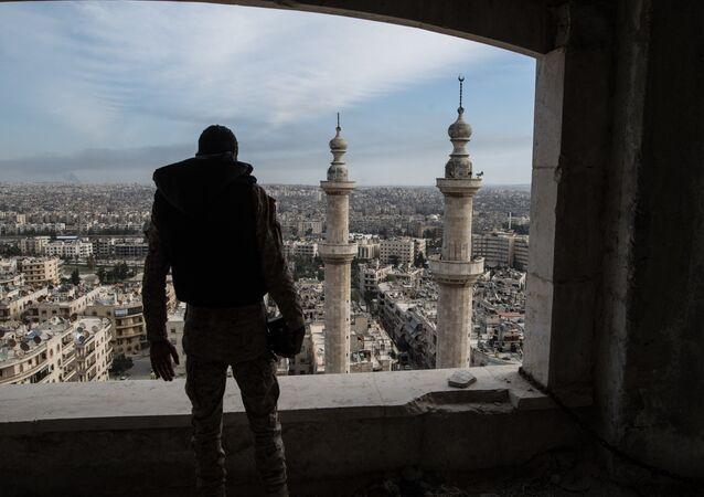 A soldier in Aleppo