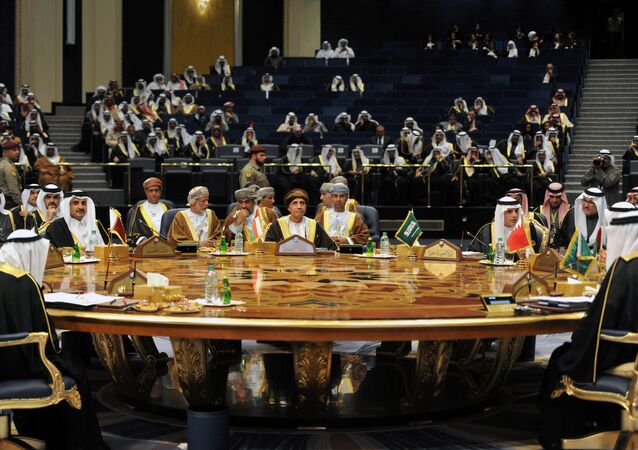Leaders and representatives of Gulf Cooperation Council (GCC) attend a meeting during their annual summit in Kuwait City, Kuwait, December 5, 2017