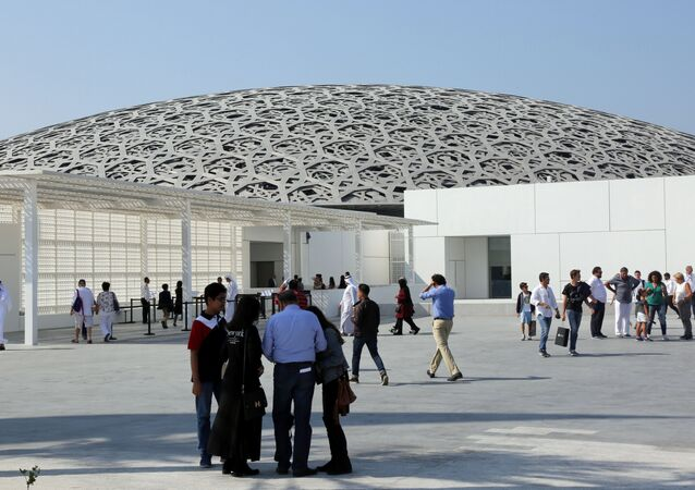 Visitors are seen at the Louvre Abu Dhabi after it was opened to public in Abu Dhabi, United Arab Emirates, November 11, 2017